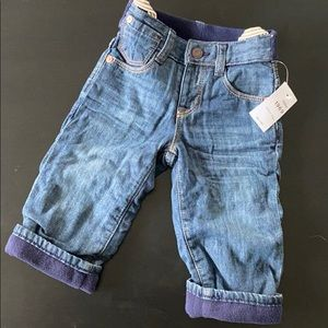 NWT Baby Gap Lined Jeans sz 6-12 mo